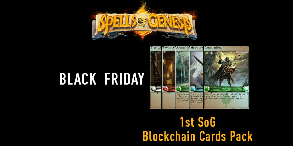 5-cards pack blockchain card spells of genesis