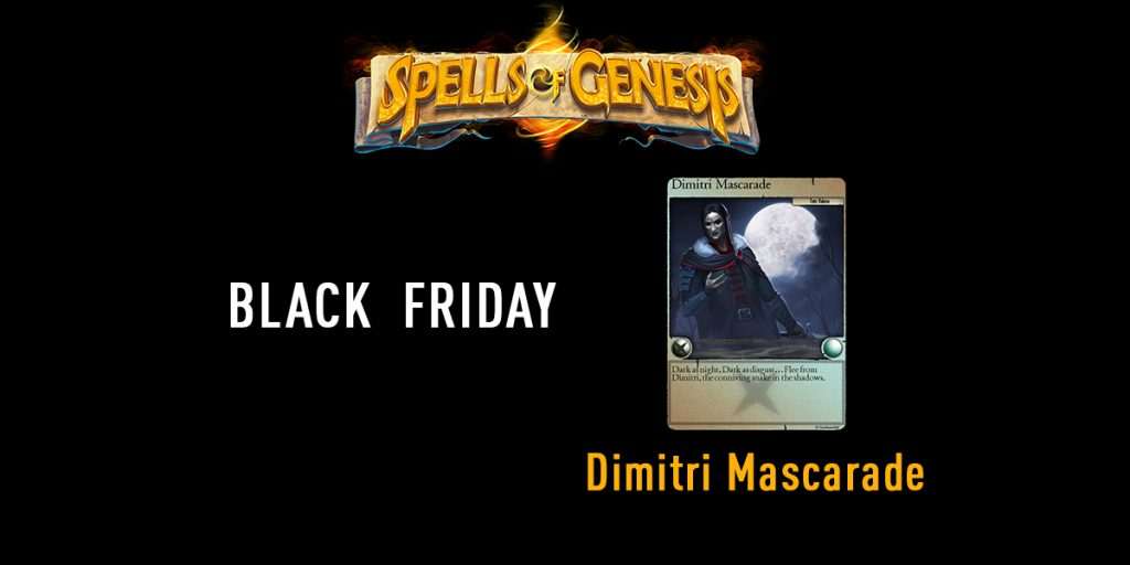 Dimitri Mascarade blockchain card spells of genesis