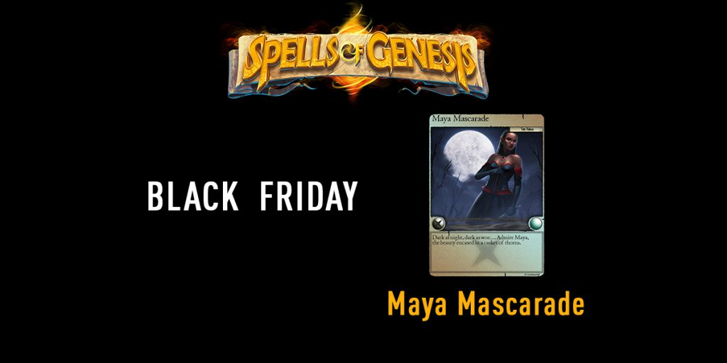 Maya Mascarade blockchain card spells of genesis