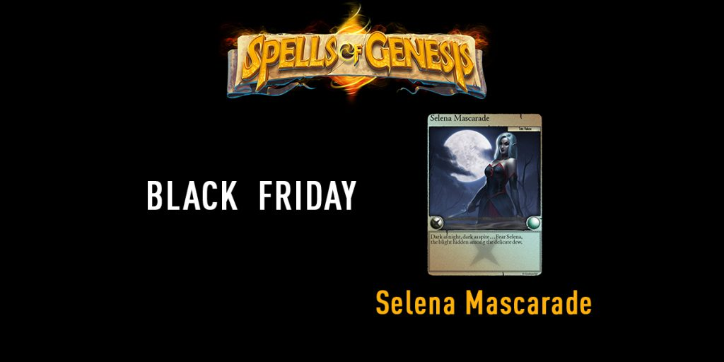 Selena Mascarade blockchain card spells of genesis