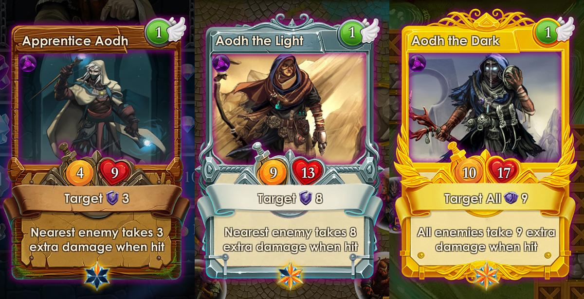 Aodh cards spells of genesis
