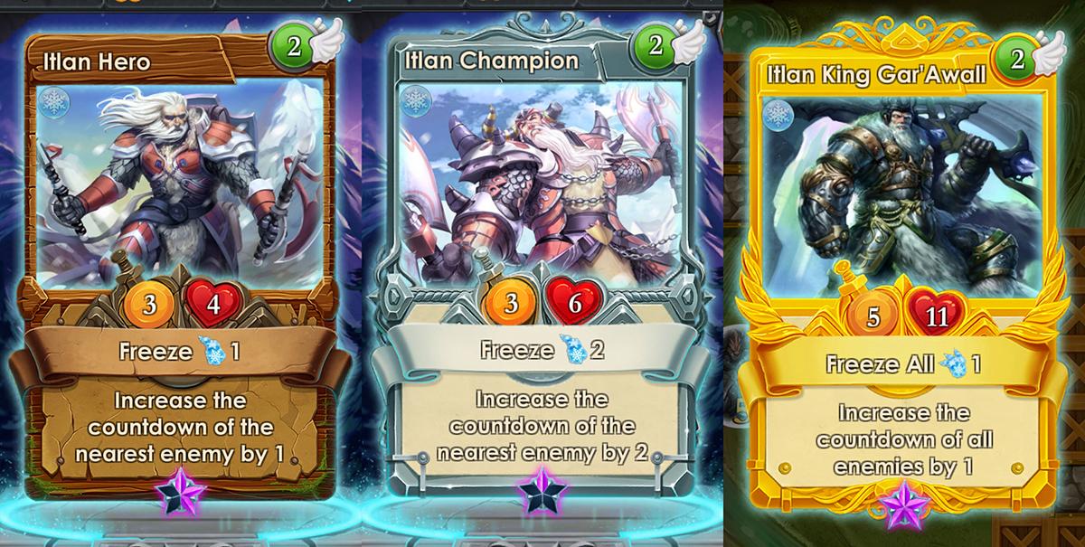 ice cards spells of genesis