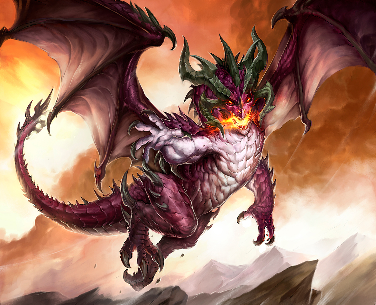 The Purple Dragon - art by Draco
