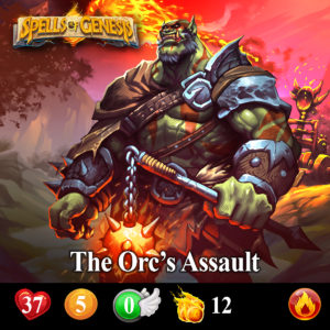 The Orc's Assault spells of genesis card