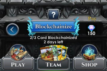 blockchainization button in Spells of Genesis